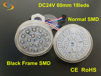 Super Brightness 60mm Diameter ;white Pcb;programmable Pixel Led Lights;24v Rgb 18smd Point Light Source Outdoor Light
