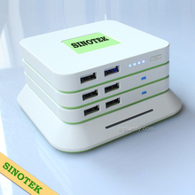 SINOTEK innovative patent-protected cafe cell phone charging station 6000mAh max 42000mAh restaurant power bank