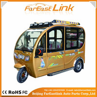 Hot sell cheap electric tricycle with passenger seat with four seats TCC