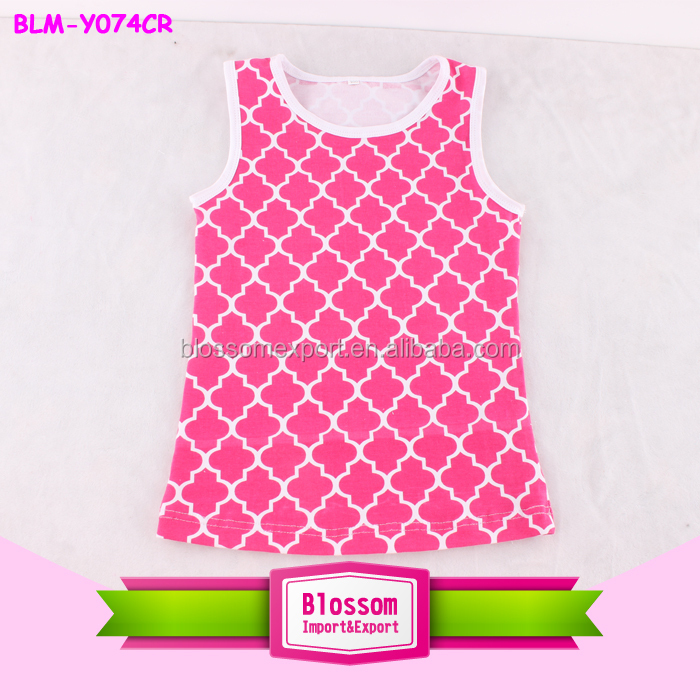 Hot Sale ! Baby solid color Soft Cotton Tank Top With sequin wholesale