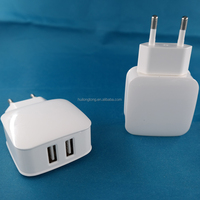 CE ROHS 5v 2a usb wall charger EU US mobile phone dual usb charger