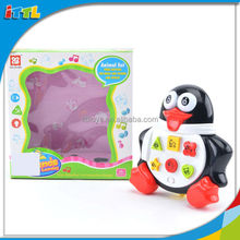 2014 New design education toy for kids funny battery operated penguin with music battery operate toy