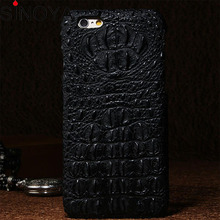 for iPhone 6 Crocodile Alligator Skin slim back mobile phone case Cow skin Cover for Iphone 5/6/6Plus