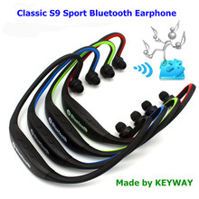 Classic In-ear Stereo Sports S9 Bluetooth Earphone For Running V4.0 Earbud headphone