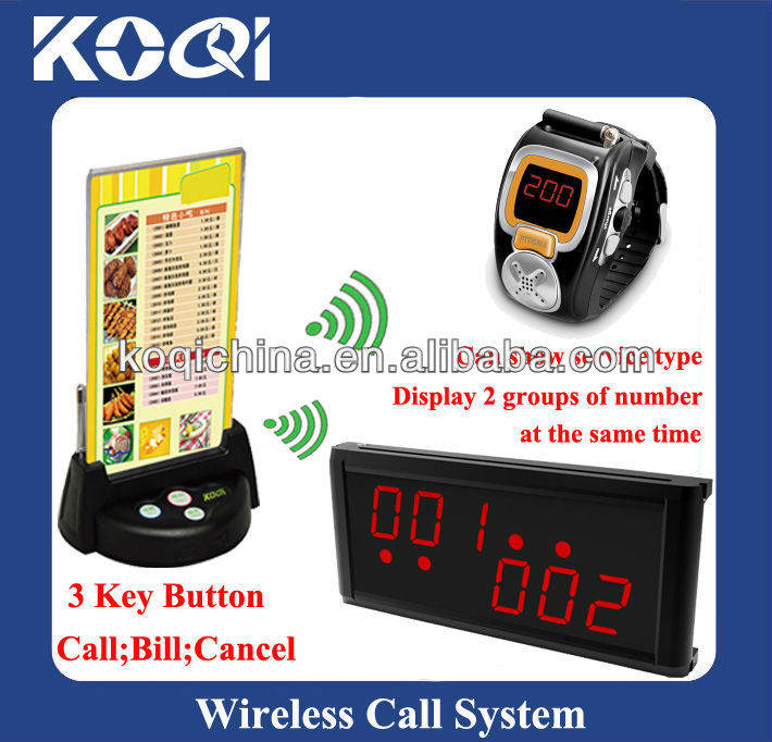 Wireless Waiter Call Bell System K-200C+k-236+G3+KSU