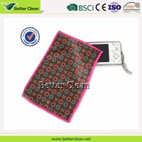 Brown background red rose bead bamboo cleaning cloth for phone