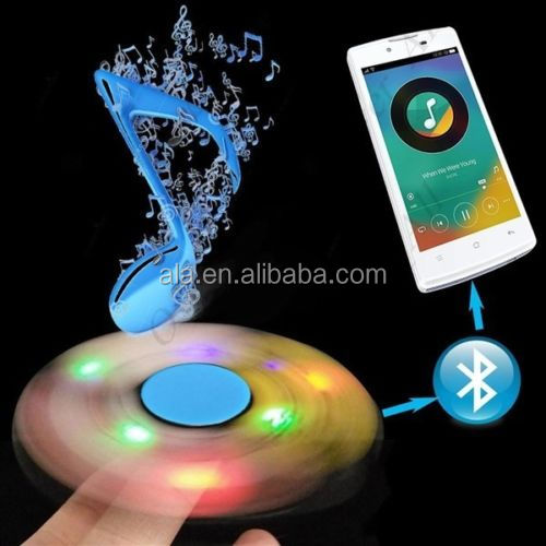 Spinner Speaker Wireless Bluetooth Tri Fidget LED Hand with Stress Reducer
