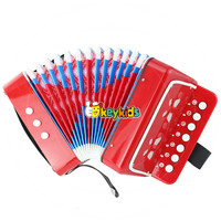 Wholesale cheap toddlers wooden toy accordion professional children wooden piano accordion for sale W07K006A