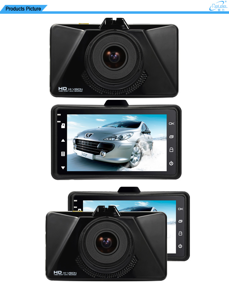 "3.0""TFT LCD Private Design Smart Outdoor Dash Car Camera"