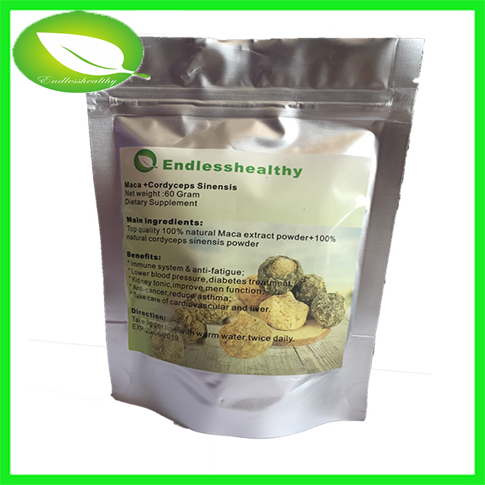 40:1 Black maca Lepidium meyenii with cordyceps sinensis 40% polysaccharide best for strong men
