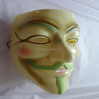 "X-MERRY Guy Fawkes Anonymous cosplay prank Halloween mask Genius luminous paint ""V For Vendetta"" Movie Costume Mask"