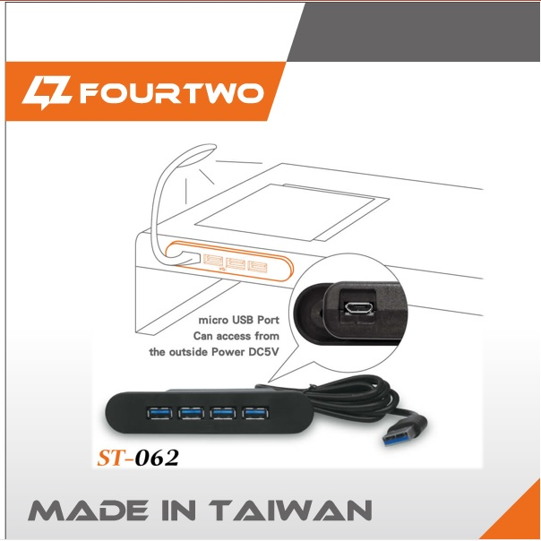 Highly recommended furniture accessory part 4 port 2.0 3.0 usb hub