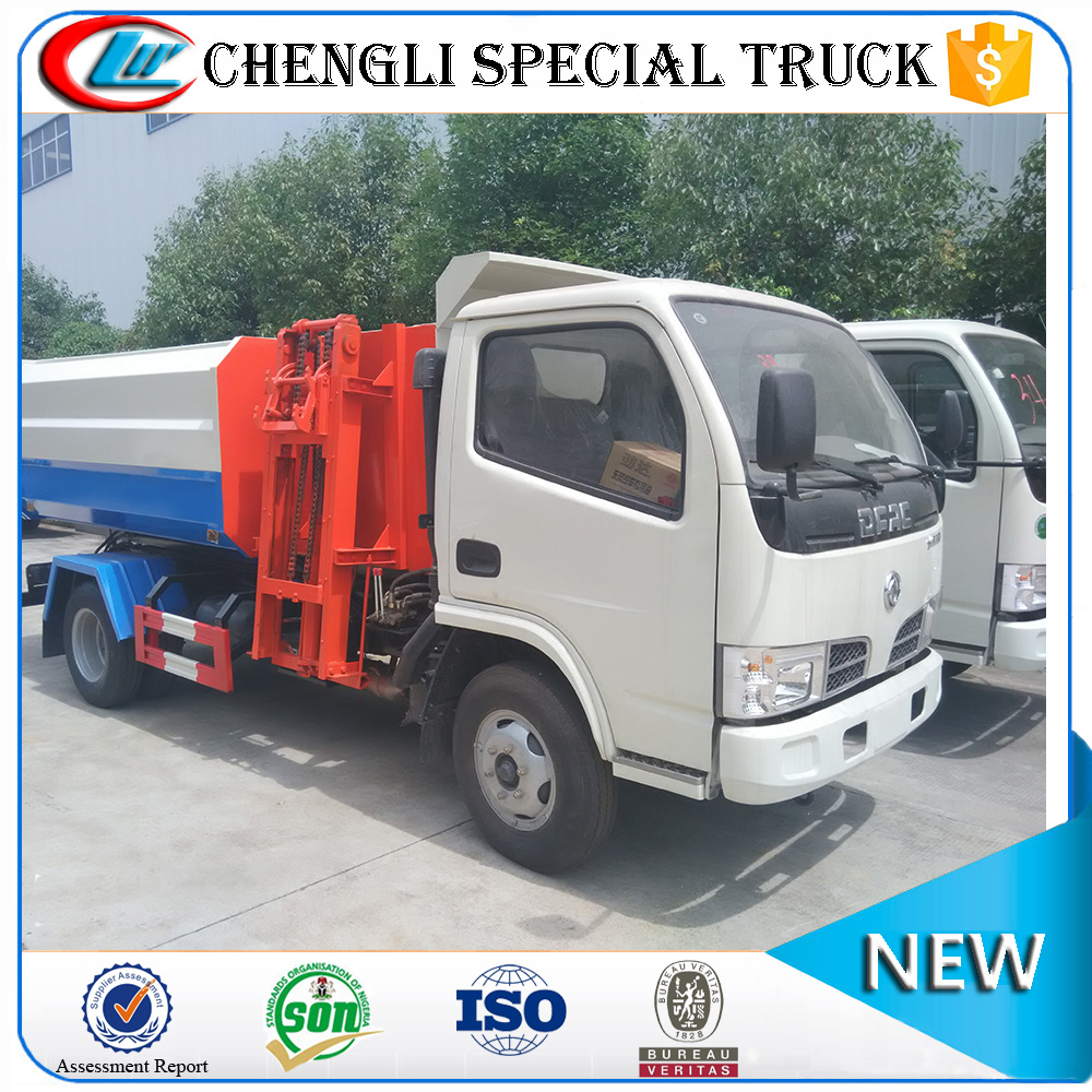 Cheaper 3 ton Hanging bucket side loader garbage truck