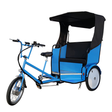 Modern Unique Design Three Wheel Tricycle Bike Taxi with Electric Assist Pedal Rickshaw