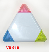 triangle highlighter marker,multi colored highlighter pen marker,promotional highlighter marker pen CH-6208