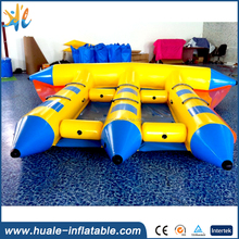 Commercial High Quality Inflatable Flying Fish Banana Boat for Water Games