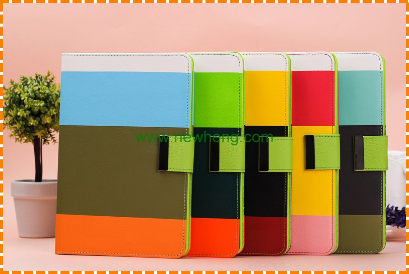 High Quality Hit Color Hybrid PU Leather Wallet Flip case for iPad Mini 4