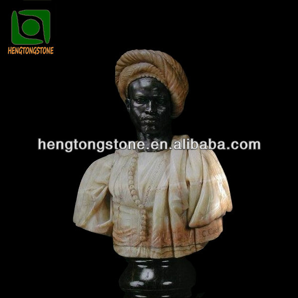 Custom Marble Carving Black Man Bust