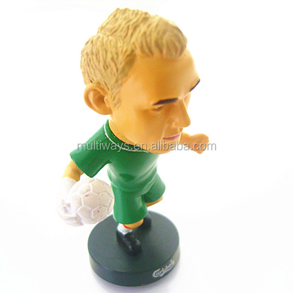 plastic miniature human figure with ECO-friendly material plastic football player figures