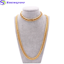 Best Custom Jewelry Sets Fashion Simple Style Gold Chains Stainless Steel Jewelry