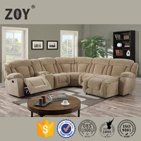 Living room furniture modern fabric recliner round sofa bed ZOY 9867A