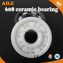 High Speed ZRO2 And Si3N4 608 Full Ceramic Ball Bearing For Skateboard And Bike