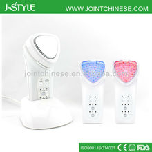 Home use handheld ion photon 3-In-1 mutlifunctional face lifting microcurrent led light machine