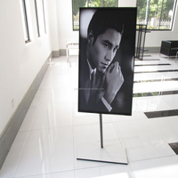 New floor standing frame photo picture stand for retail store