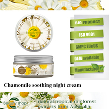 Chamomile the best soothe sensitive and whitening skin face day and night cream