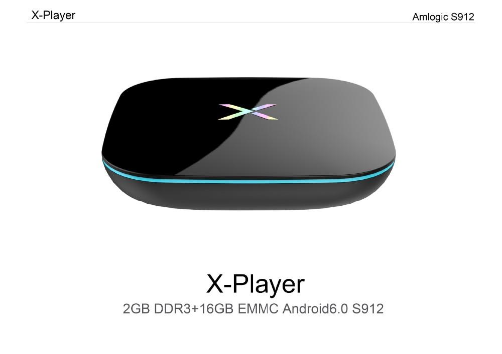 Best Media Box X Player Kodi 17.0 TV Box S912 Chip Android 6.0 Octa core 4K free TV Player