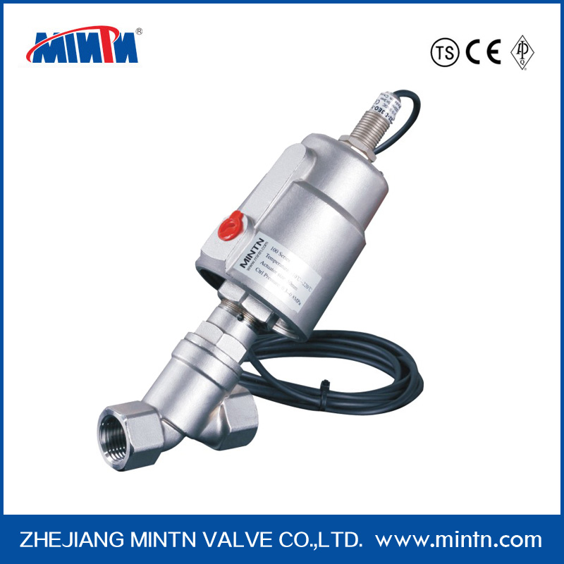 Pneumatic Stainless Steel Angle Seat Valve with Proximity Switch