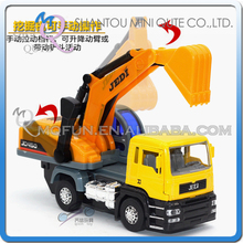 Mini Qute 1:32 kid Die Cast pull back alloy engineering Excavator truck vehicle diecast model car educational toy NO.MQ BF039-B