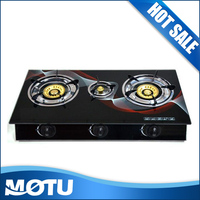 Best sales Kitchen 3 burn gas cooker/gas cooktop/table gas stove with parts