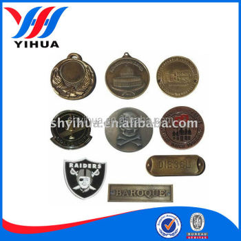 Custom 3D nameplate antique metal nameplates electronic nameplates