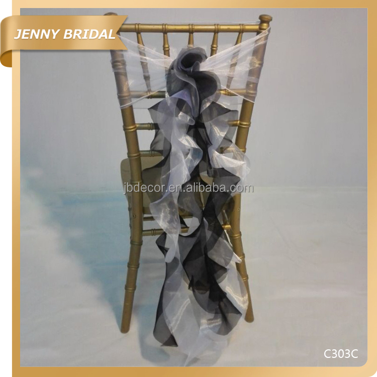 C303 Custom made organza hot sale used for wedding resteraunt chair cover