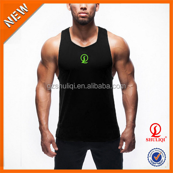 Embroidered Multi Colors Burnout 100% Cotton Men's Tank Tops For Running