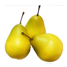 Cheap wholesale christmas tree decoration plastic pear artificial styrofoam fruit for home wall decoration and diy