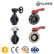 Manual Flange Plastic pvc upvc wafer type butterfly valve DN50 DN150 for water supply