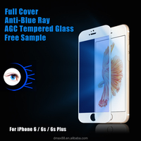 2016 New 9H hardness Anti scratch Anti-bacterial Anti blue light Smart Phone HD Tempered glass screen protector for iphone 6s