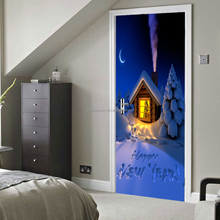 Creative Christmas print wall/door stickers for home decor