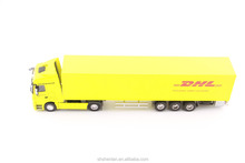 Scale 1:50 DHL die cast mini container truck promotional toy custom made