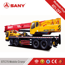 SANY STC75 75 Tons Used Truck Mounted Crane of 2010 Year Second Hand Hoist Crane