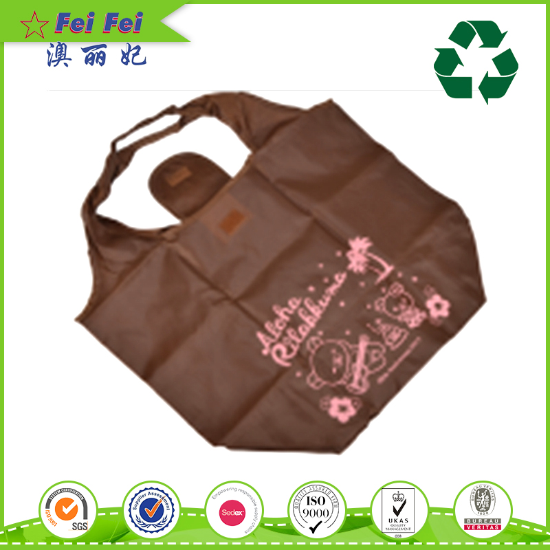 Fashion Design Popular polyester foldable shopping bag