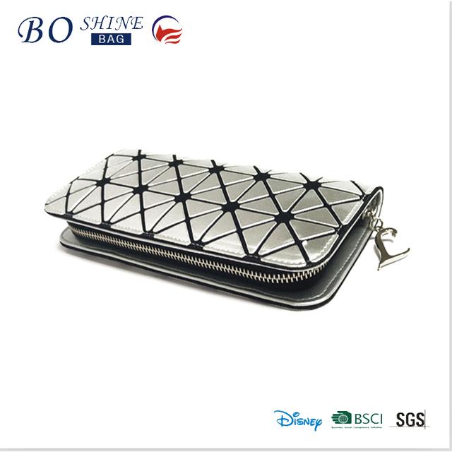 New design trending fashion shiny PU sequin women wallet