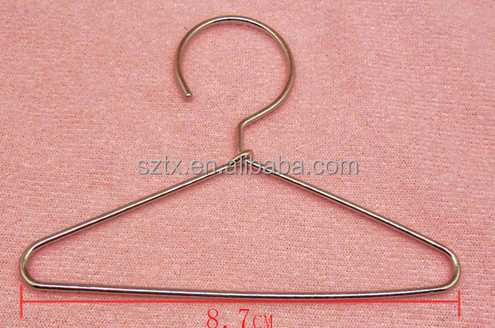 70mm high small metal hanger for clothes