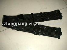 high quality tactical military nylon belt with 36 eyelets and special hooks
