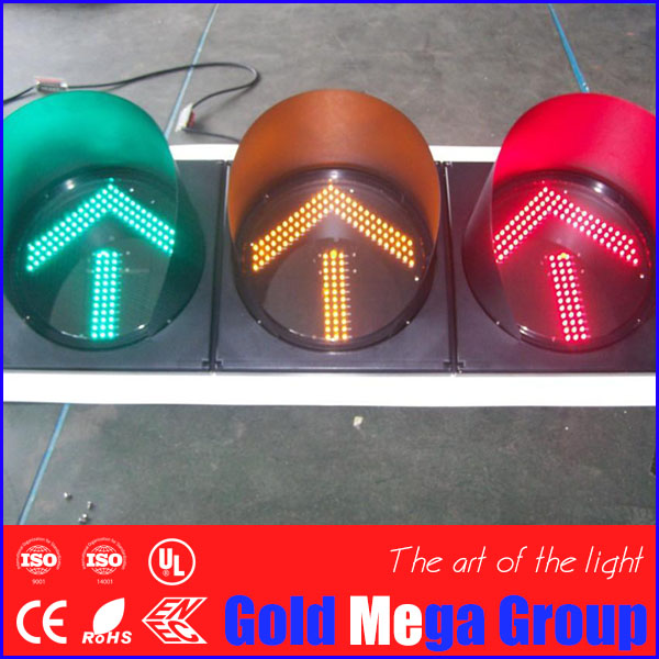 100mm PC housing red green LED traffic light signals for school teaching