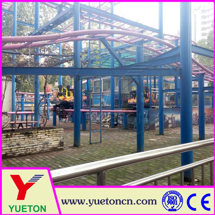 Customized Size Track Big Roller Coaster Spinning Coaster For Sale