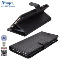 Veaqee new trendy flip pu leather case with card holder for iphone 6