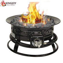 CSA Certificated Portable Outdoor Gas Fire Pit with metal lid